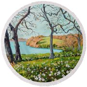 Rock Cut State Park Round Beach Towel by Alexandra Maria Ethlyn Cheshire