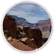 Rock Formations In The Grand Canyon  Round Beach Towel