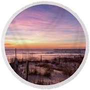 Rodanthe Sunrise Round Beach Towel