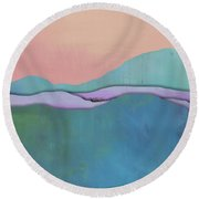 Rolling Mountains Round Beach Towel by Jacquie Gouveia