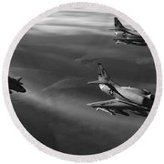 Rolling Thunder Round Beach Towel