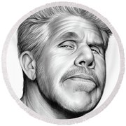 Ron Perlman Round Beach Towel