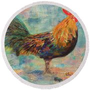 Regal Rooster Round Beach Towel