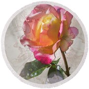 Rosa, 'glowing Peace' Round Beach Towel