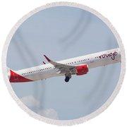 Rouge Air Canada Round Beach Towel
