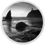 Ruby Beach  Round Beach Towel