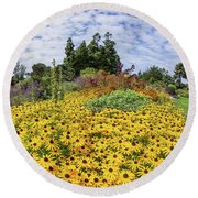 Rudbeckia Vista Round Beach Towel