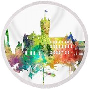 Rutherglen Scotland Skyline Round Beach Towel