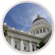Sacramento Capitol Building Round Beach Towel