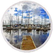 Safe Harbor Round Beach Towel