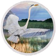 Sail Into Sunset Round Beach Towel