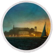 Sailing By Round Beach Towel