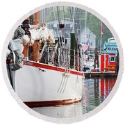 Sailing Vessel Round Beach Towel