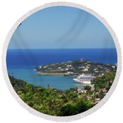 Round Beach Towel featuring the photograph Saint Lucia by Gary Wonning