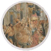 Saint Paul At Lystra Round Beach Towel