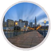 Pier 7 Round Beach Towel