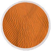 Round Beach Towel featuring the photograph Sand Pattern by Alexey Stiop