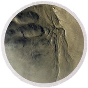 Sandscape 1 Round Beach Towel by Newel Hunter