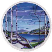 Sardi Lake Round Beach Towel