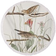 Savannah Finch Round Beach Towel