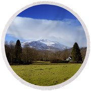 Round Beach Towel featuring the photograph Scottish Scenery by Jeremy Lavender Photography
