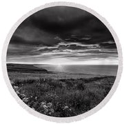 Scottish Sunrise Round Beach Towel