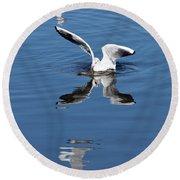 Seagull Fishing Round Beach Towel