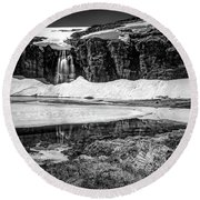 Round Beach Towel featuring the photograph Seasonal Worker by Dmytro Korol