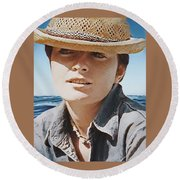 Selfportrait  Round Beach Towel