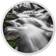 Senter Falls Round Beach Towel