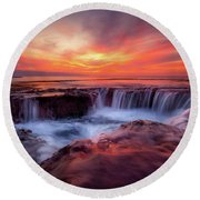 Sharks Cove Round Beach Towel by James Roemmling