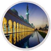 Sheikh Zayed Grand Mosque Round Beach Towel