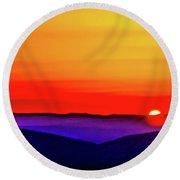 Shenandoah Valley Sunset Round Beach Towel