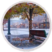 Sherman Snow Round Beach Towel