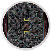 Shipibo Art Round Beach Towel