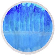 Round Beach Towel featuring the mixed media Shivering Timbers by Seth Weaver
