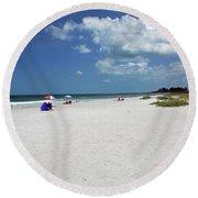 Round Beach Towel featuring the photograph Siesta Key Beach by Gary Wonning