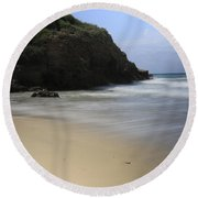 Silent. Round Beach Towel by Shlomo Zangilevitch