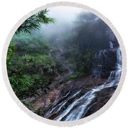 Silver Waterfall - Vietnam Round Beach Towel