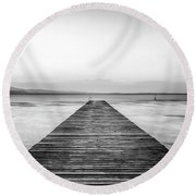 Round Beach Towel featuring the photograph Sirmione by Traven Milovich