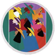 Sisters Of Courage Round Beach Towel