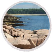 Sit For Awhile Round Beach Towel