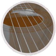 Six Guitar Strings Round Beach Towel