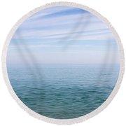 Sky To Shore Round Beach Towel