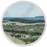 Round Beach Towel featuring the photograph Sleeping Bear Dunes National Lakeshore by Alexey Stiop
