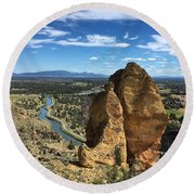 Smith Rocks Round Beach Towel