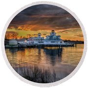 Smithfield Station Round Beach Towel