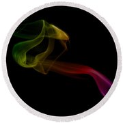 Round Beach Towel featuring the photograph smoke XXV by Joerg Lingnau