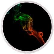 smoke XXXIII Round Beach Towel by Joerg Lingnau