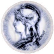 Snowflake 1896 Indochina Round Beach Towel by Fred Larucci